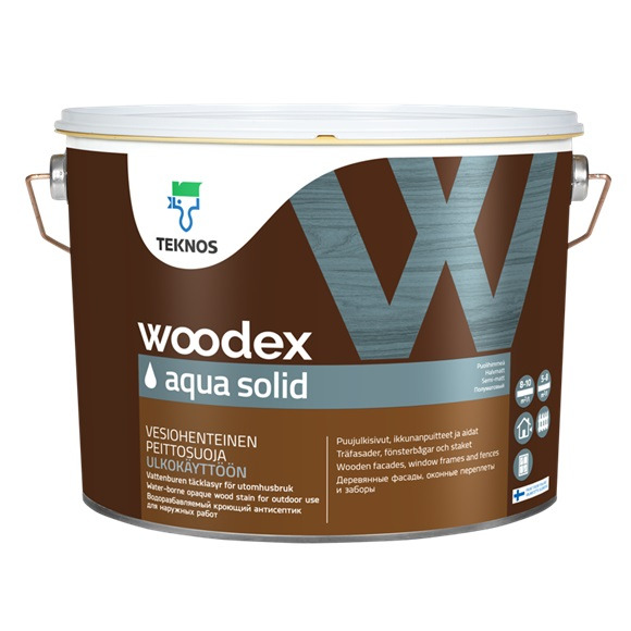 Краска WOODEX AQUA SOLID